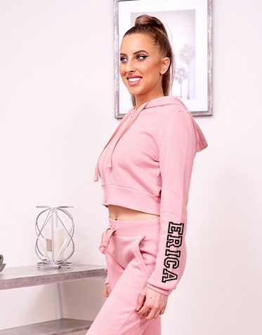 Personalized Pink Hoodie Jogger Set
