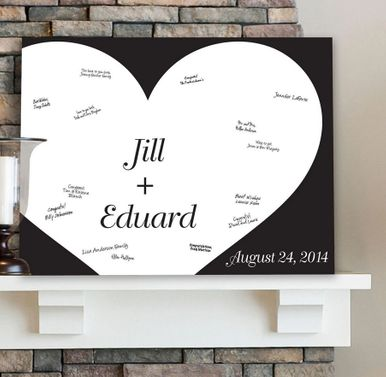 Personalized Guestbook Canvas