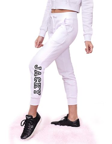 Personalized White Hoodie and Jogger Set