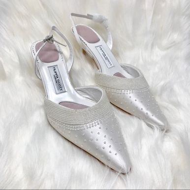 CLEARANCE SALE! Cristalle Satin Bridal Shoes by Filippa Scott