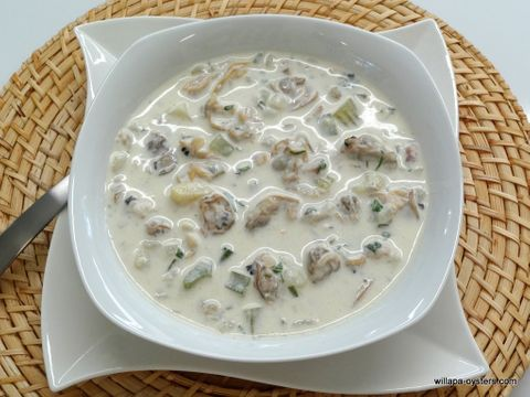 Manila and Razor Clam Chowder - <font color=red>Quart Size. </font>