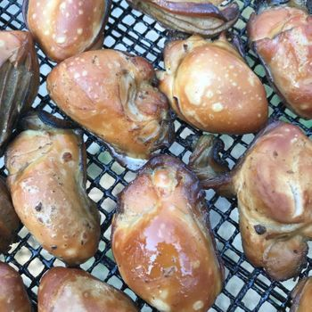 """Traditional Artisan Smoked Oysters -<h6>Fresh (not canned)</h6> <Font Face= """"Times New Roman, Times, Serif""""COLOR=#0101DF  SIZE=3><b>Gluten-free</b></font>"""