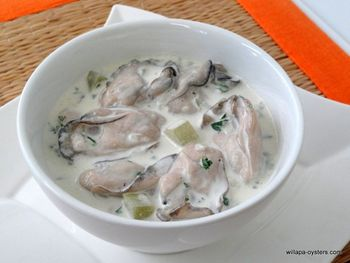 "Willapa Oyster Stew - <font color=red>Pint Size</font><br><Font Face= ""Times New Roman, Times, Serif""COLOR=#0101DF  SIZE=4><b>Gluten-free</b></font>"