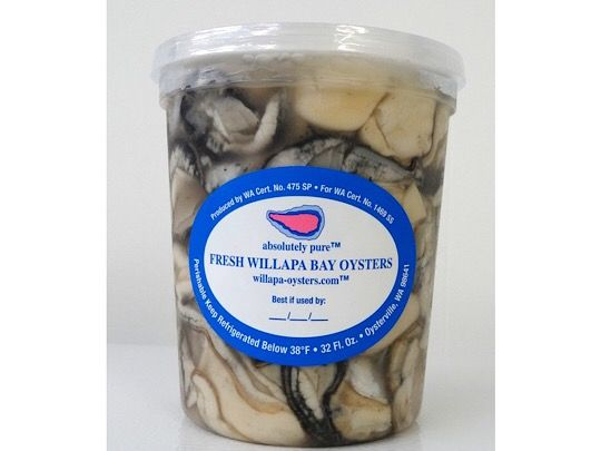 Willapa Shucked Small <h6>Fresh (not frozen)</h6>