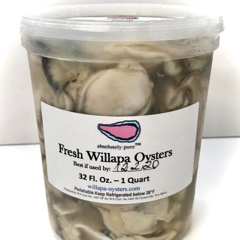 Willapa Shucked Small - Quarts <h6>Fresh (not frozen)</h6>