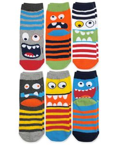 1141 Monster Crew Socks 6 Pair Pack