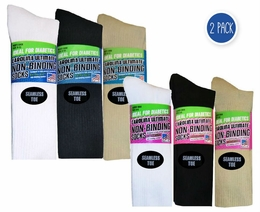 2912 Seamless Toe Cotton Crew 2 Pair Pack