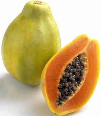 strawberry papayas
