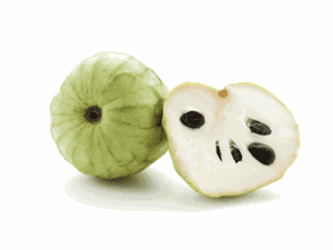 Three Fresh Cherimoya fruits