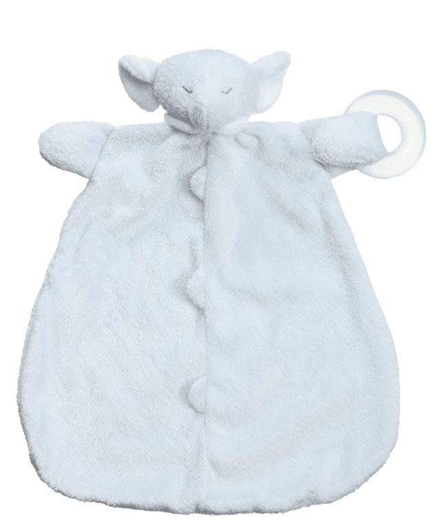 Angel Dear Blue Elephant Teether Blankie Personalized