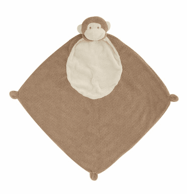 Angel Dear Dark Brown Monkey Personalized Blankie