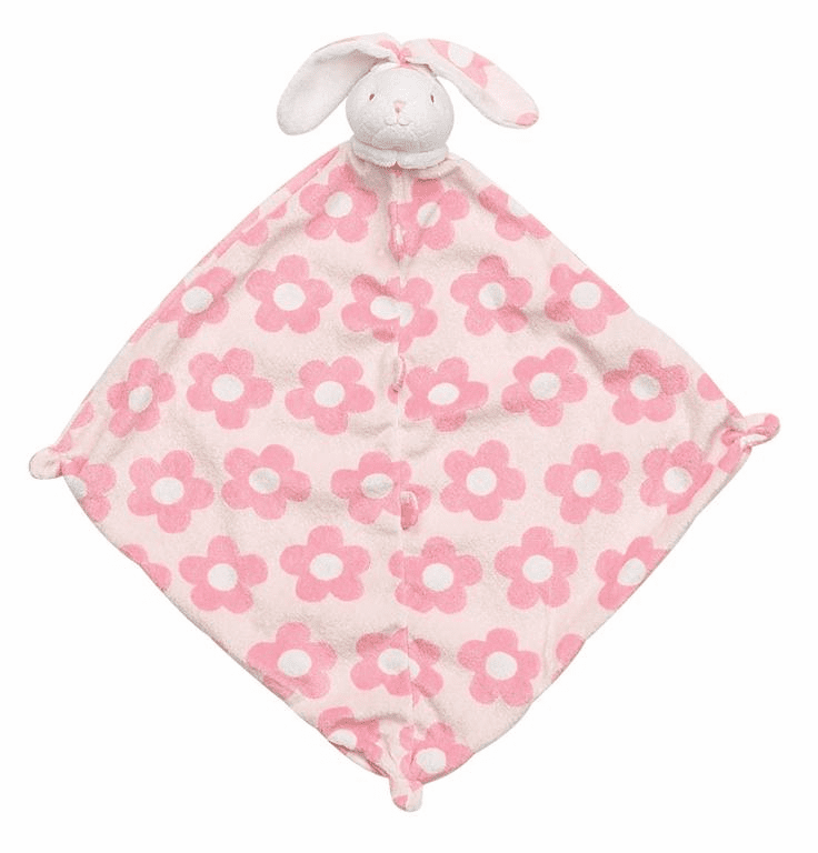 Angel Dear Flower Print Bunny Blankie Personalized