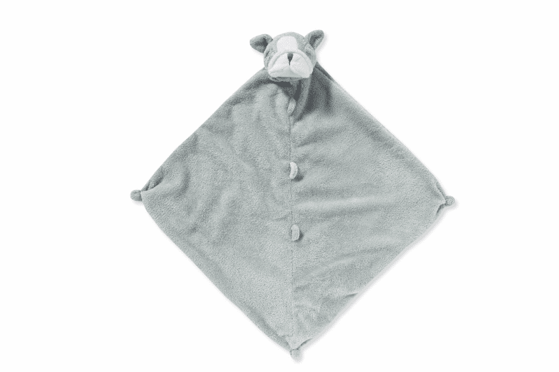 Angel Dear Grey Bulldog Personalized Blankie