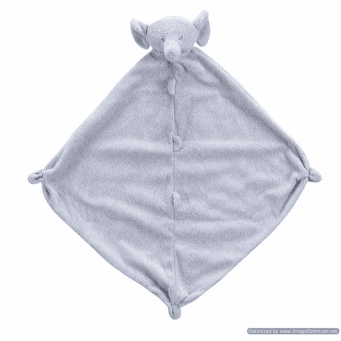 Angel Dear Grey Elephant Personalized Blankie