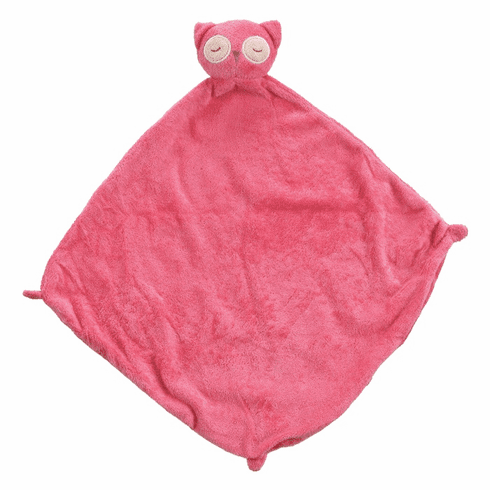 Angel Dear Hot Pink Owl Personalized Blankie