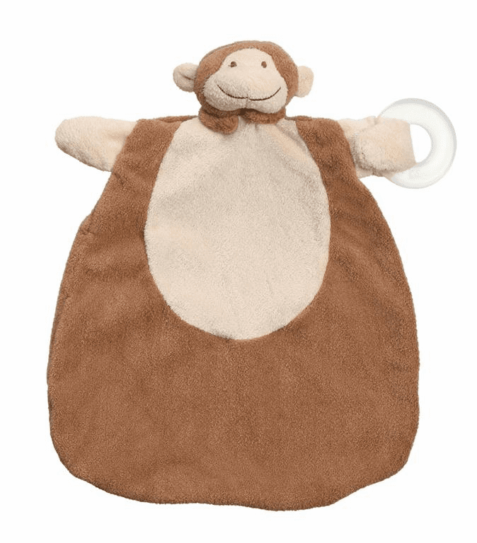 Angel Dear Monkey Teether Blankie Personalized