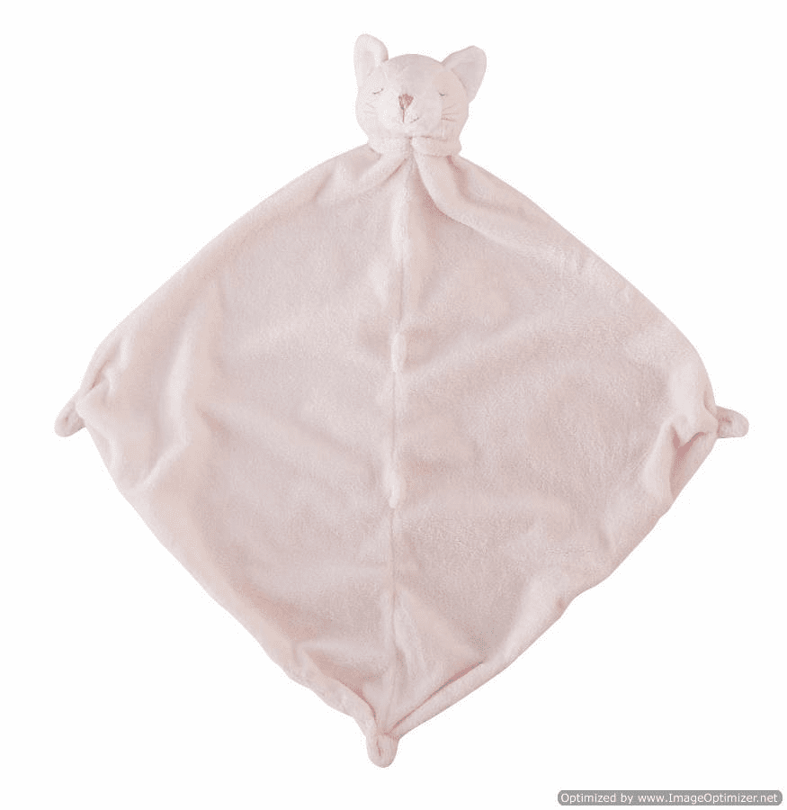 Angel Dear Pink Kitty Personalized Blankie