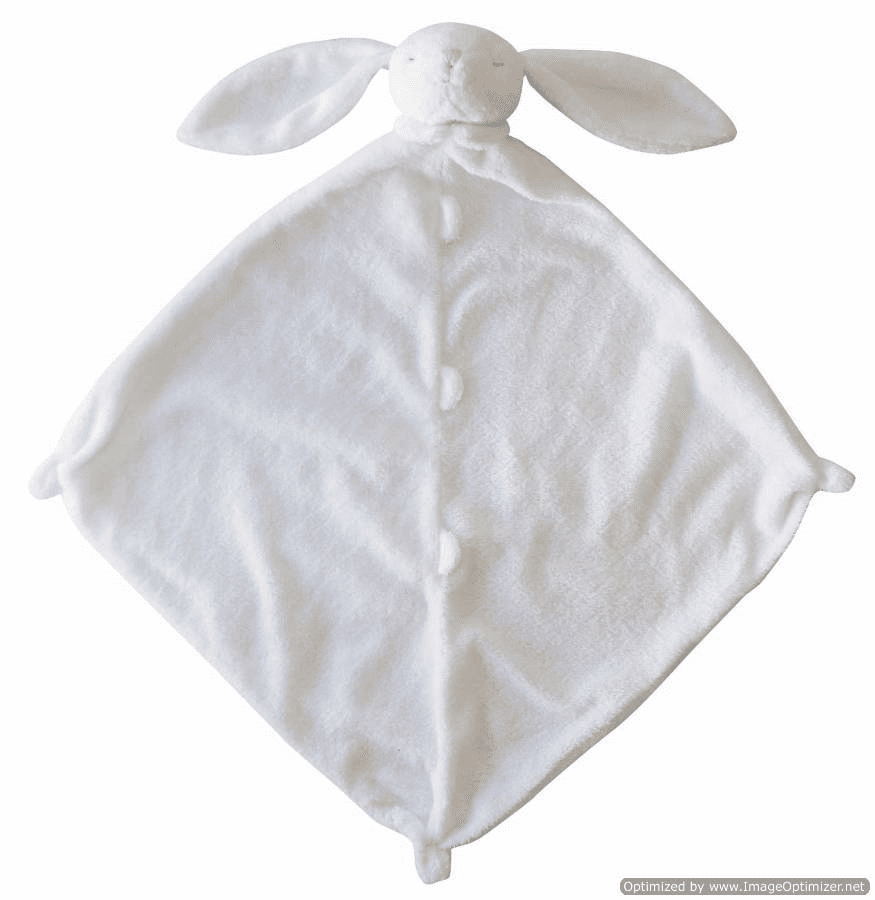 Angel Dear White Bunny Personalized Blankie