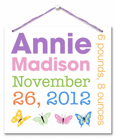 Announcing Me (Girl) Personalized Wall Tile