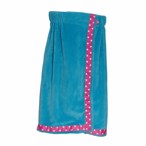Aqua and Pink Trim Towel Wrap from Mint