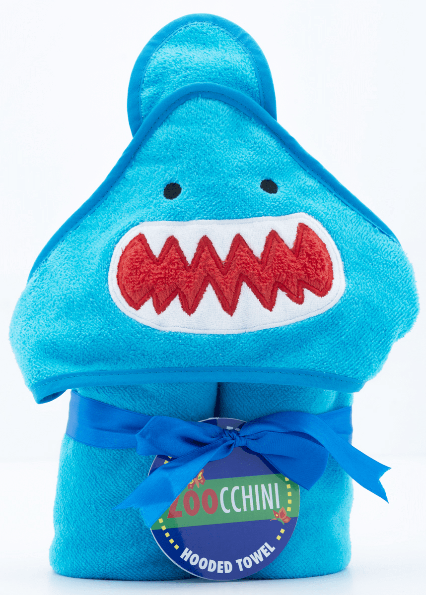 BABY Guppy Shark Personalized Hooded Towel