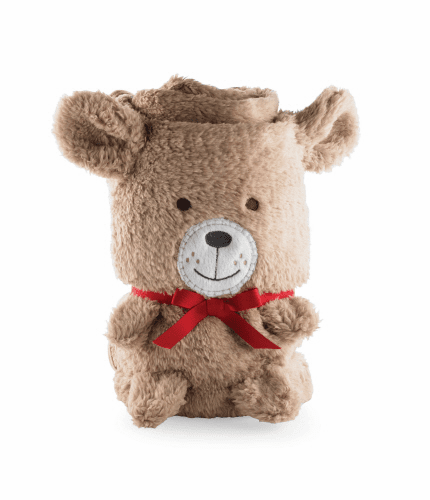 Bear Plush Blanket by Mud Pie