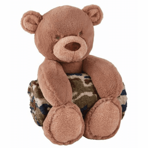 Bear with Camo Blanket Personalized