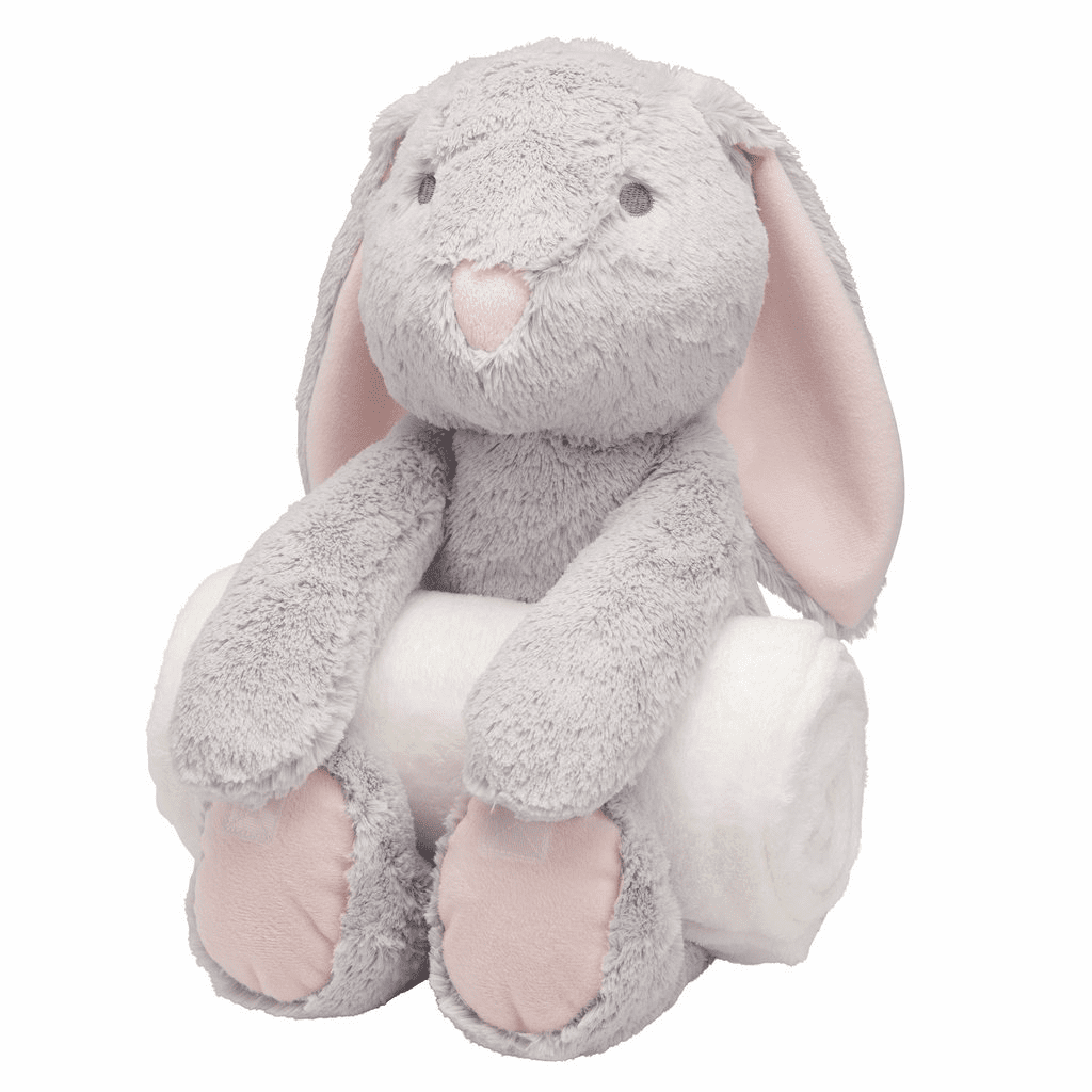 Bedtime Huggie Grey Bunny and Blanket