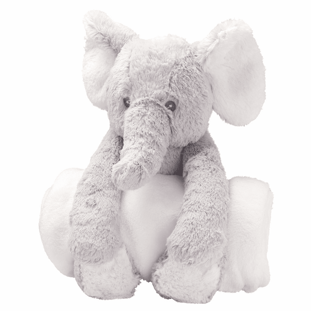 Bedtime Huggie Grey Elephant and Blanket