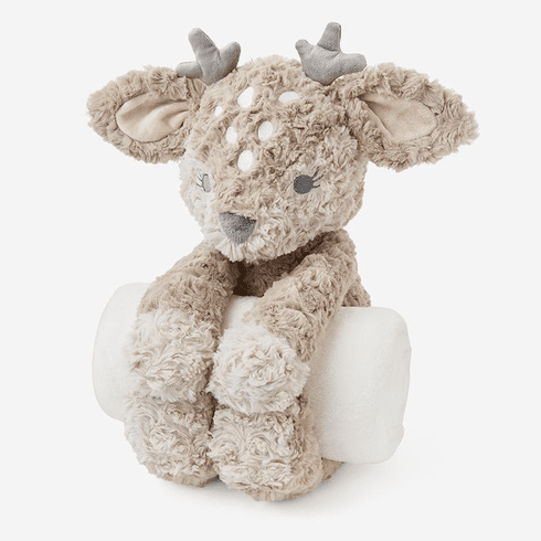 Bedtime Huggie Swirly Fawn and Blanket