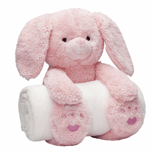 Bedtime Huggy Bunny and Blanket Personalized