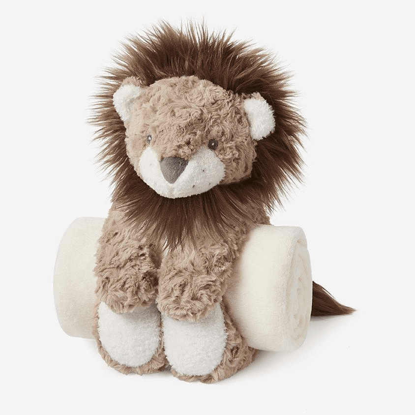 Bedtime Lion and Blanket Personalized