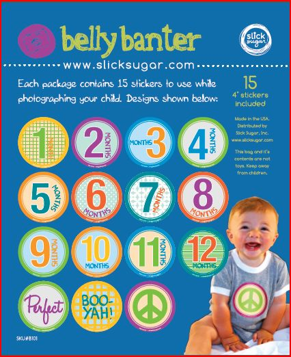 Belly Banter Baby Stickers