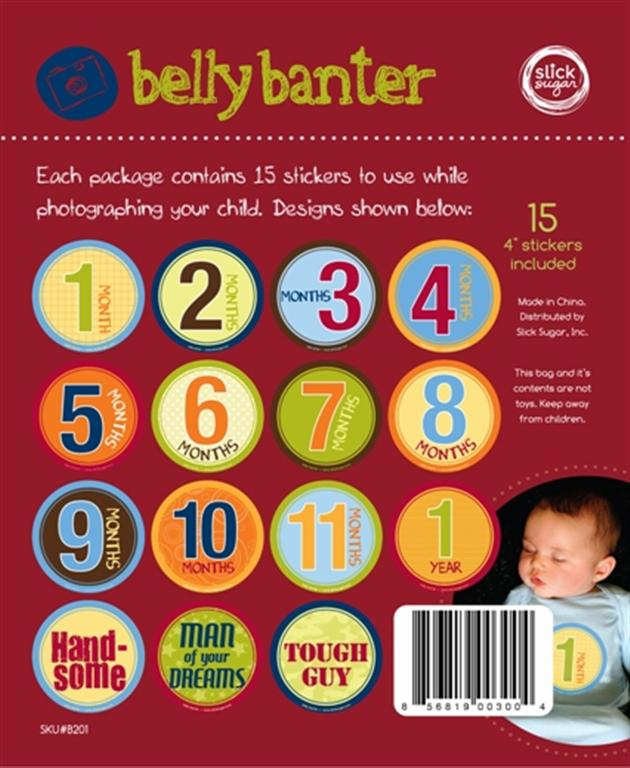 Belly Banter Boy Stickers