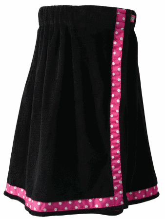 Black and Pink Towel Wrap From Mint