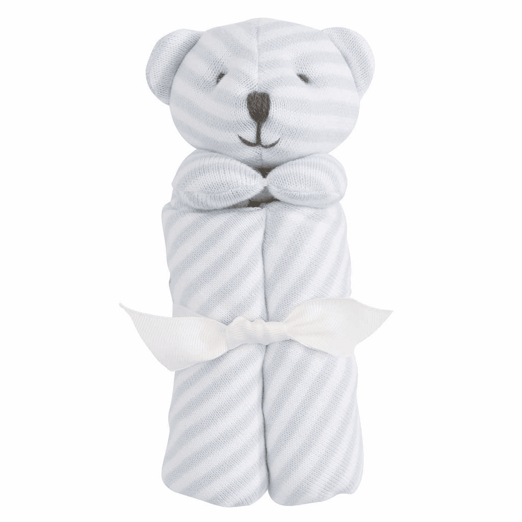 Blankie Stripe Blue Bear Personalized