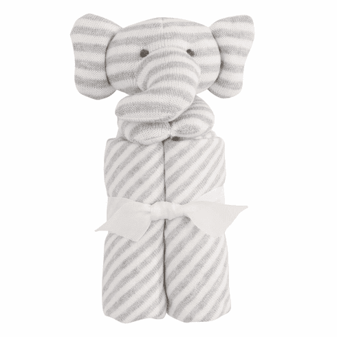 Blankie Stripe Gray Elephant Personalized