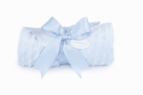 Blue Minky Blanket Personalized