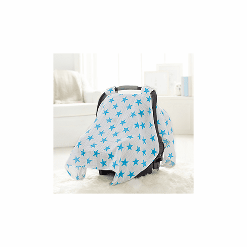 Blue Star Car Seat Canopy