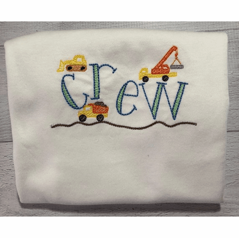 Boys Personalized Embroidered Construction Shirt