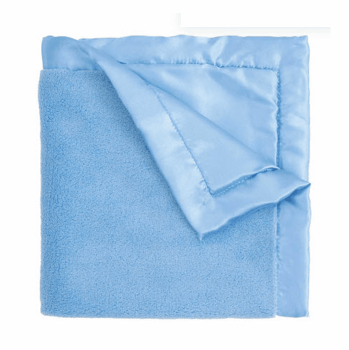 Bright Blue Coral Fleece Blanket Personalized