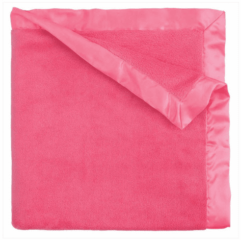 Bright Pink Coral Fleece Blanket Personalized