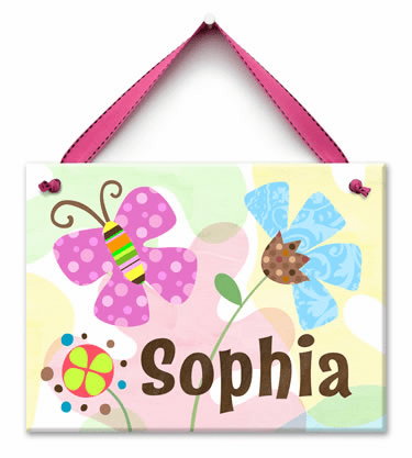 Butterfly Dream Personalized Wall Tile