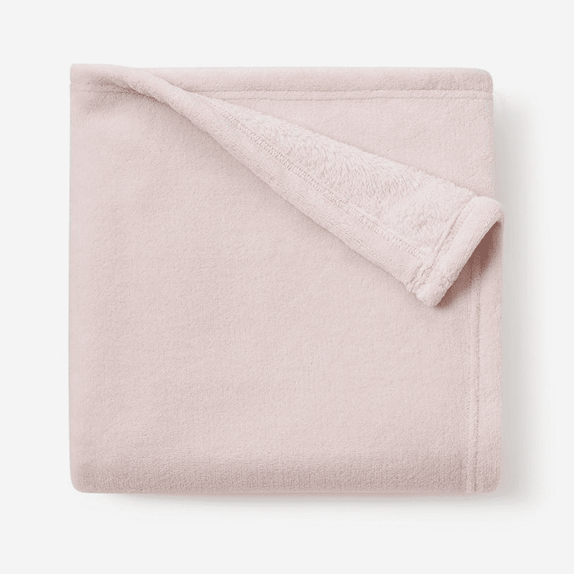 Chalk Pink Simple Fleece Baby Blanket Personalized