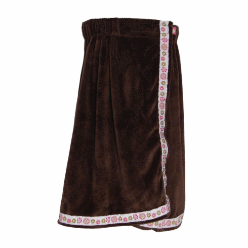 Chocolate Blooms Towel Wrap From Mint