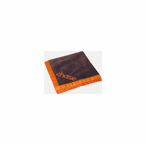 Chocolate Orange Baby Blanket Personalized