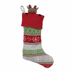 Christmas Stocking Fairisle Reindeer