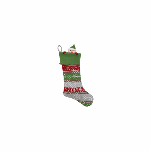 Christmas Stocking Fairisle Snowman
