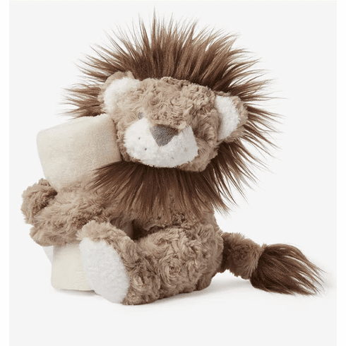 Naptime Swirl Lion with Lovie Personalized
