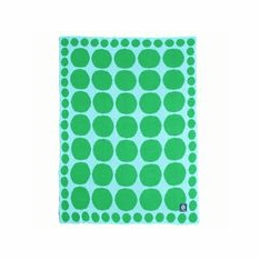 Connect the Dots Lime Stroller Blanket